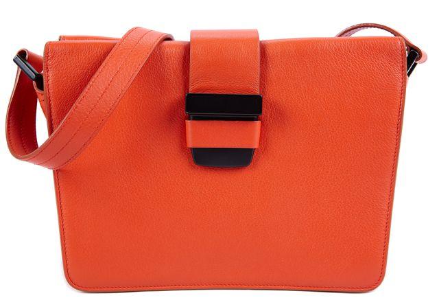 NARCISO RODRIGUEZ Orange Geometric Leather Crossbody Handbag