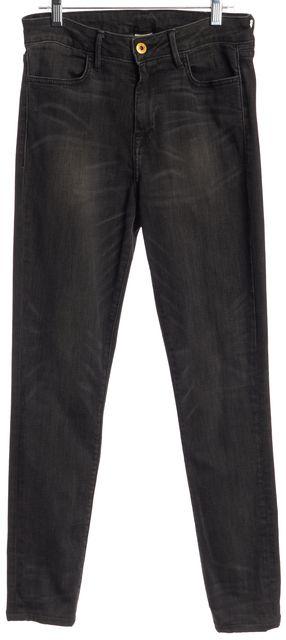 NSF Gray Skinny Whiskered Stonewash Jeans