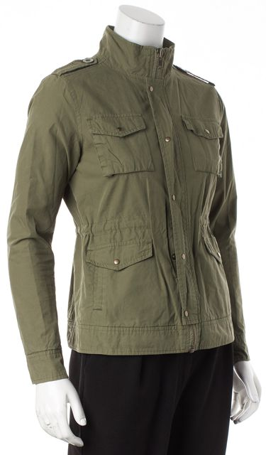 NSF Green CottonZip-Up Utility Military Jacket