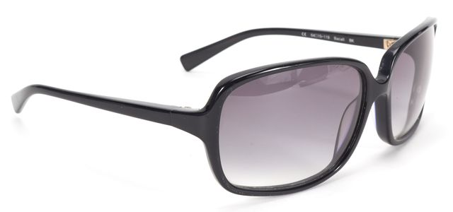 OLIVER PEOPLES Black Gray Acetate Gradient Lens Bacall Rectangular Sunglasses