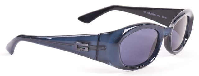 GUCCI Blue Acetate Frame Rectangular Sunglasses