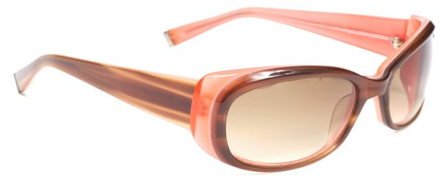 OLIVER PEOPLES Brown Pink Acetate Gradient Lens Phoebe Oval Sunglasses