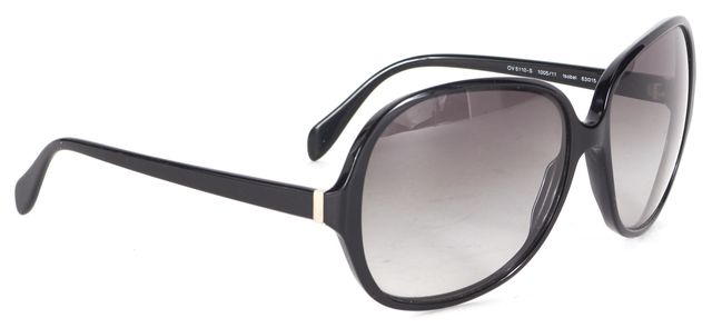 OLIVER PEOPLES Black Acetate Gradient Lens Isobel Oval Sunglasses