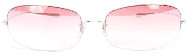 OLIVER PEOPLES Silver Rimless Frame Pink Gradient Lens Epic Sunglasses