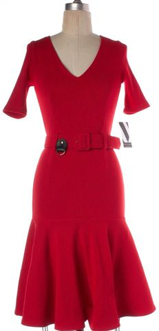 OPENING CEREMONY NEW NWT $385 Red Fit Flare Dress Size S