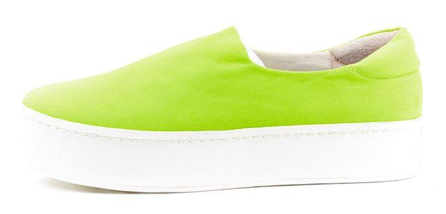 OPENING CEREMONY Neon Green Slip On Platform Sneakers