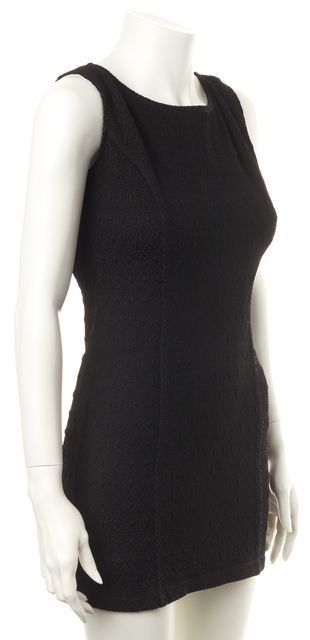 OPENING CEREMONY Black Textured Stretch Jersey Cutouts Mini Bodycon Dress