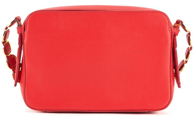 OPENING CEREMONY Red Leather Gold Chain Sumi Convertible Crossbody