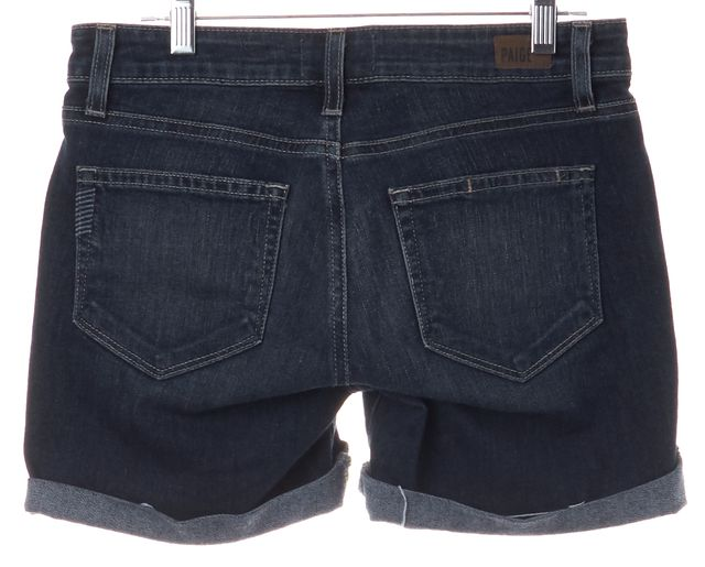 PAIGE Blue Medium Wash GRANT Denim Shorts