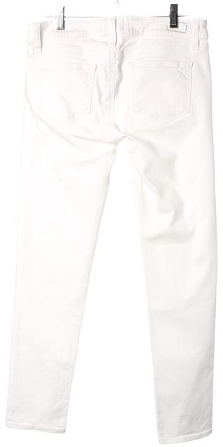 PAIGE Optic White Skyline Ankle Peg Stretch Cotton Skinny Jeans