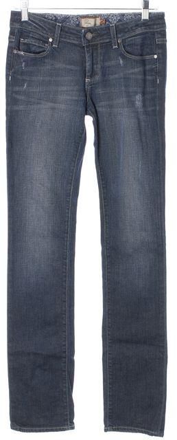 PAIGE #10650 10-237 Blue Straight Leg Jeans