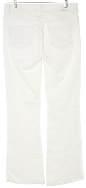 PAIGE Optic White Stretch Denim Hidden Hills Flare Leg Jeans