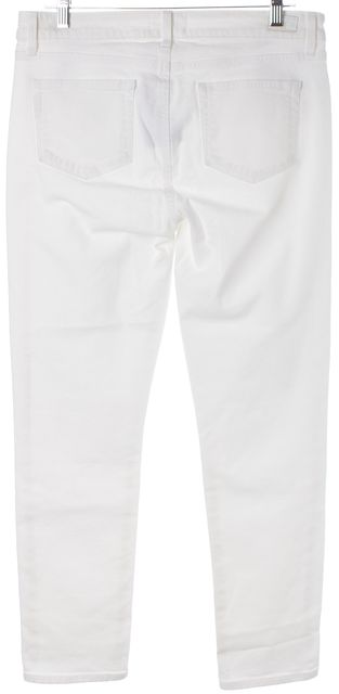 PAIGE Optic White Skyline Ankle Peg Skinny Ankle Crop Jeans