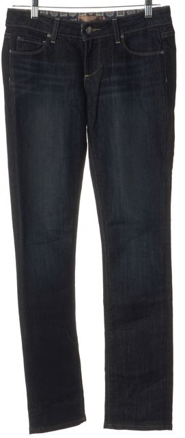 PAIGE Blue Stretch Cotton Mid-Rise Skyline Skinny Jeans