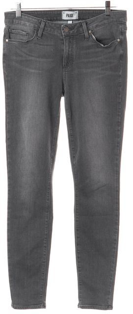 PAIGE Gray Stretch Cotton Verdugo Ultra Skinny Jeans
