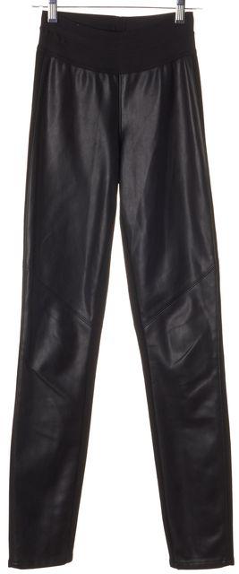 PAIGE Black Faux Leather Panel Leggings