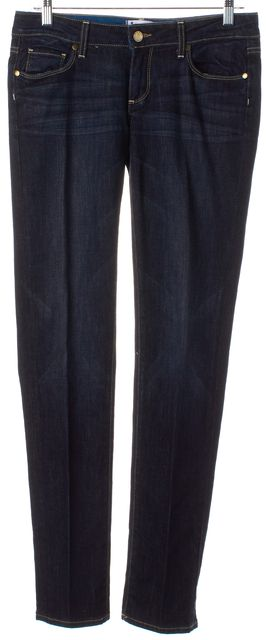 PAIGE Dark Navy Blue Jimmy Jimmy Skinny Mid-Rise Jeans