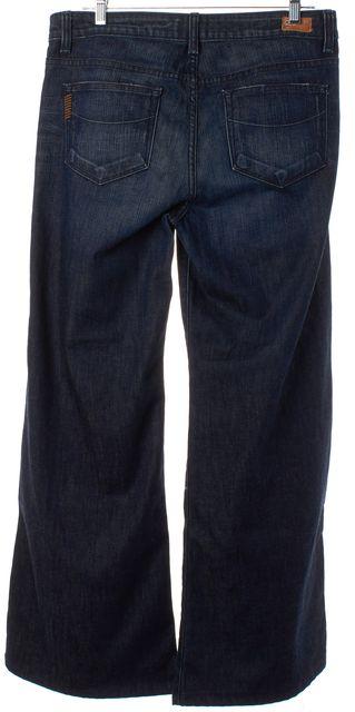 PAIGE Navy Blue Medium Wash Hillside Wide Leg Jeans