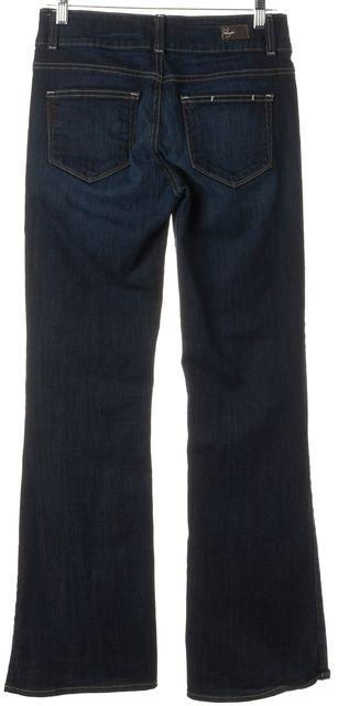 PAIGE Blue Stretch Cotton Mid-Rise H.H. Boot Cut Jeans
