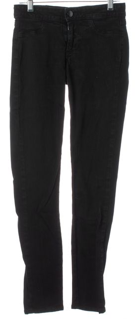 PAIGE Black Stretch Cotton Low-Rise Rowena Legging Skinny Jeans
