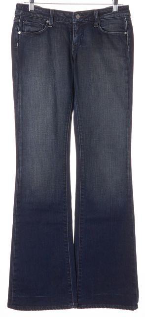 PAIGE Blue Stretch Cotton Laurel Canyon Low Rise Boot Cut Jeans
