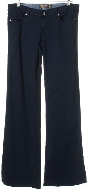 PAIGE Navy Blue Bentley Wide Leg Pants