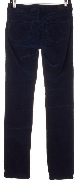 PAIGE Midnight Navy Blue Skyline Straight Corduroy Pants