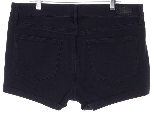 PAIGE Black Grommet Trim Stretch Cotton Anja Denim Shorts