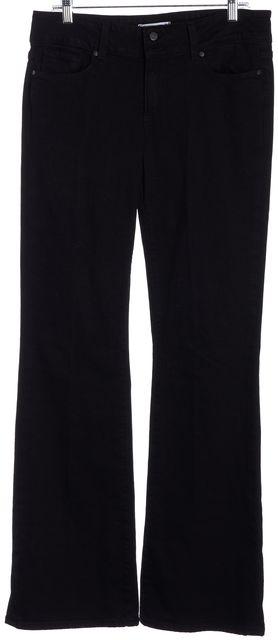 PAIGE Black Hidden Hills Wide Leg Jeans
