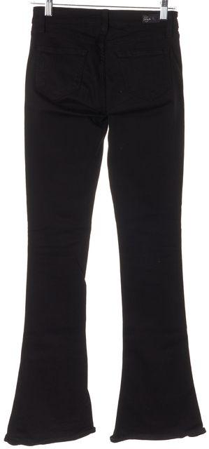 PAIGE Black Stretch Cotton Denim Lou Lou Flare Leg Jeans