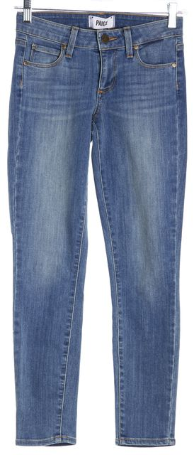PAIGE Blue Verdugo Crop Cropped Jeans
