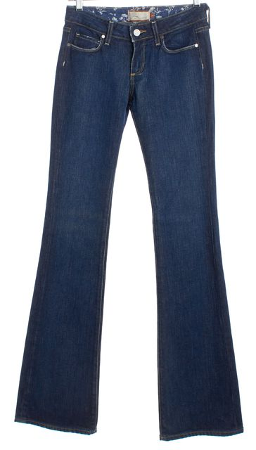 PAIGE Dark Blue Hollywood Hills Wide Leg Jeans