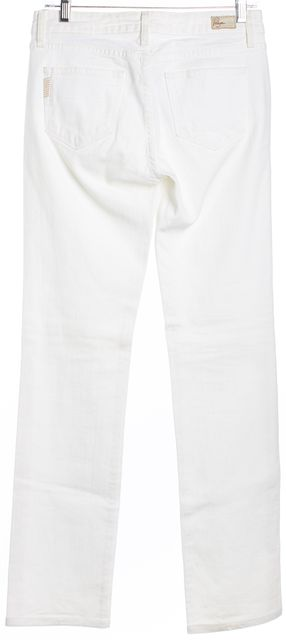 PAIGE White Melrose Straight Leg Jeans