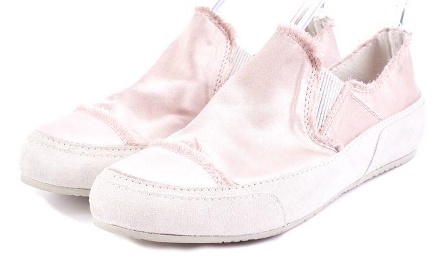 PEDRO GARCIA Pink Satin Slip-on Sneakers
