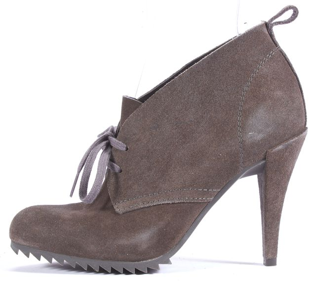 PEDRO GARCIA Gray Suede Bootie Platform Ankle Boots