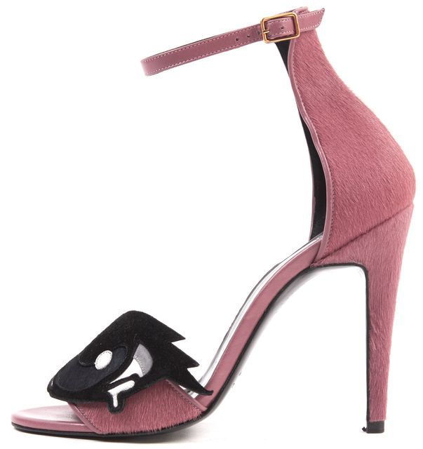PIERRE HARDY Dusty Rose Pink Calf Hair Oh Roy Ankle Strap Heels