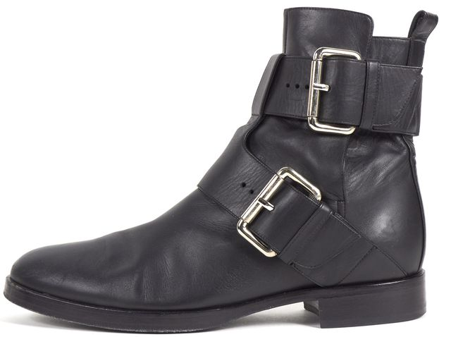 PIERRE HARDY Black Leather Buckle Ankle Boots