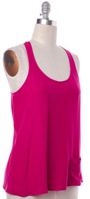 PARKER Pink Silk Tank Top