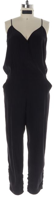 PARKER Black Silk Jumpsuit/ Romper