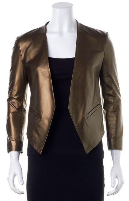PARKER Clubwear Gold Leather Blazer