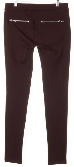PARKER Burgundy Red Zip Pocket Stretch Legging Pants
