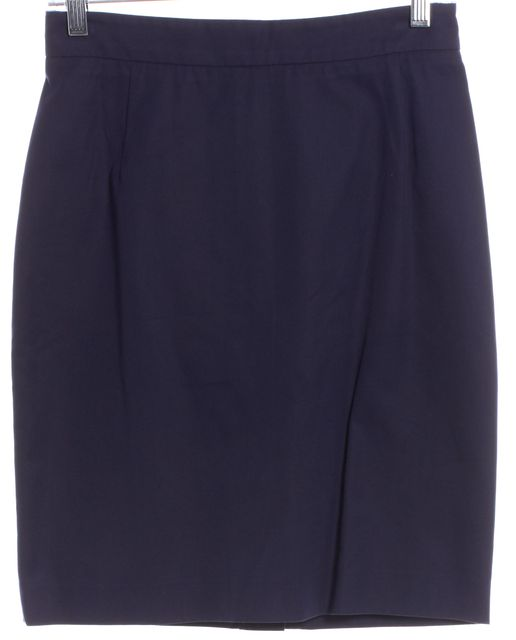 PRADA Navy Blue Straight Skirt