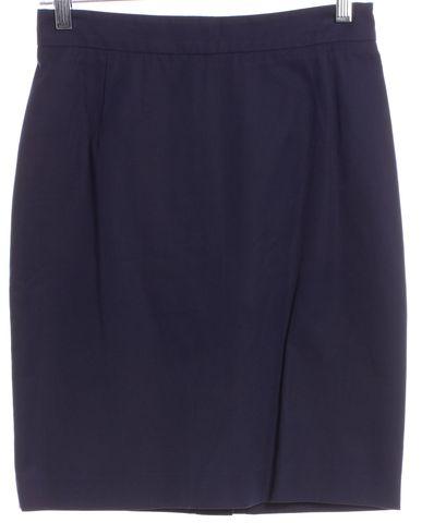 PRADA Navy Blue Straight Skirt