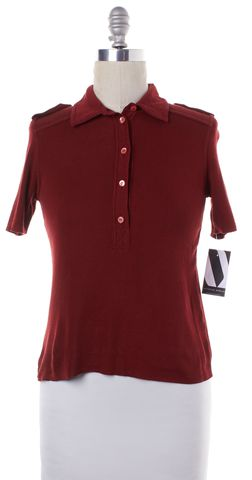 PRADA Red Cotton Knit Polo Shirt