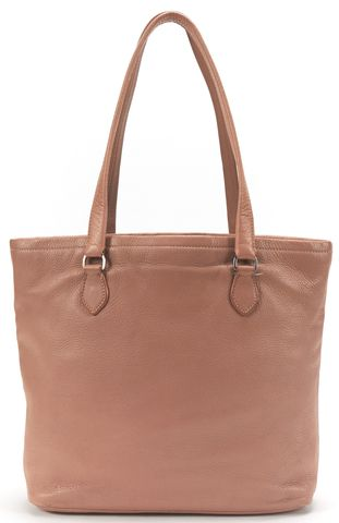 PRADA Dusty Pink Pebbled Leather Small Tote Bag