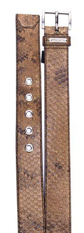 PRADA Brown Python Silver Tone Belt