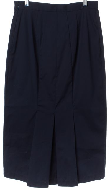 PRADA Blue Straight Knee-Length Pleated Skirt