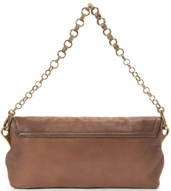 PRADA Brown Leather Jewel Embellished Shoulder Bag