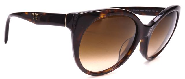 PRADA Brown Tortoise Shell Gradient Lens Round Sunglasses