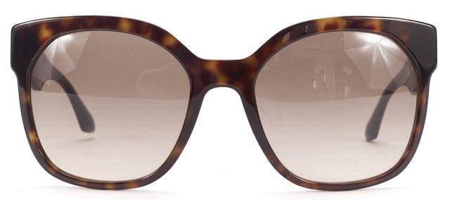 PRADA BP26579633 Brown Tortoiseshell Square Frame Sunglasses w/ Case